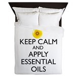 Keep Calm and Apply Essential Oils Queen Duvet