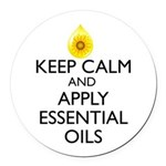 Keep Calm and Apply Essential Oil Round Car Magnet