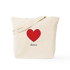 Anna Big Heart Tote Bag