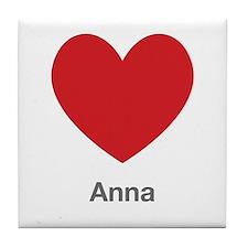 Anna Big Heart Tile Coaster