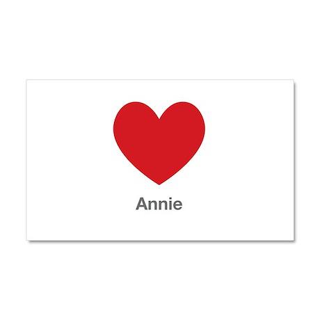 Annie Big Heart Car Magnet 20 x 12