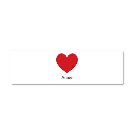 Annie Big Heart Car Magnet 10 x 3