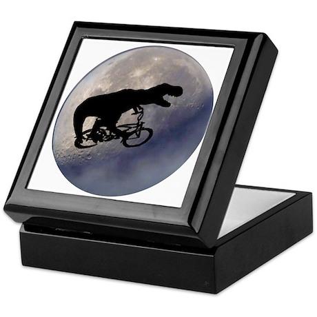 T-Rex vintage moon Keepsake Box
