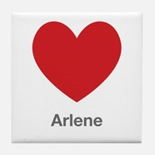 Arlene Big Heart Tile Coaster