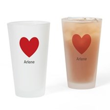 Arlene Big Heart Drinking Glass