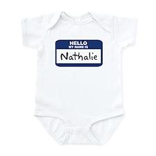 Hello: Nathalie Infant Bodysuit