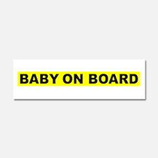 Cute Pregnant mom Car Magnet 10 x 3