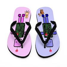 Robot Love Flip Flops