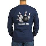 Bowling Long Sleeve Dark T-Shirts