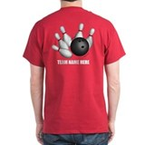 Bowling ball with name Dark T-Shirt