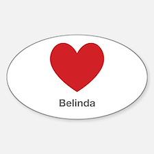 Belinda Big Heart Decal