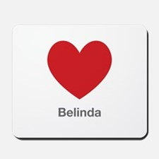 Belinda Big Heart Mousepad