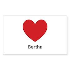 Bertha Big Heart Decal