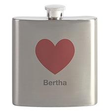 Bertha Big Heart Flask