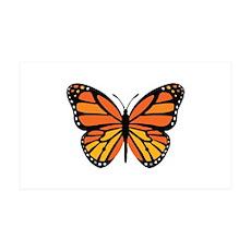 Orange Monarch Butterfly Wall Decal
