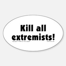 Kill Extremists Oval Decal