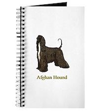 Afghan Hound Christmas Drawing Journal