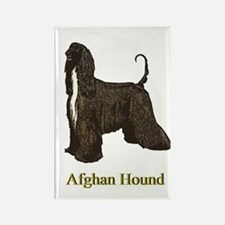 Afghan Hound Christmas Drawing Rectangle Magnet