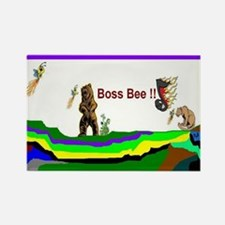 Boss Bee Rectangle Magnet