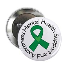"Mental Health Heart Ribbon 2.25"" Button"