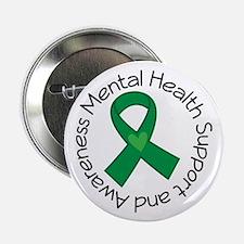 "Mental Health Heart Ribbon 2.25"" Button"