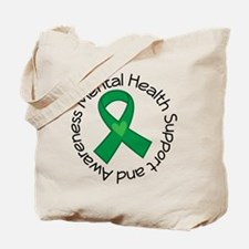 Mental Health Heart Ribbon Tote Bag