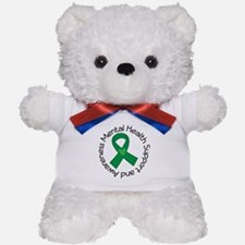 Mental Health Heart Ribbon Teddy Bear