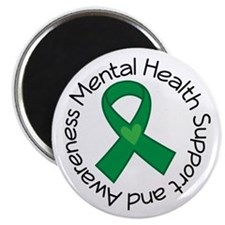 Mental Health Heart Ribbon Magnet