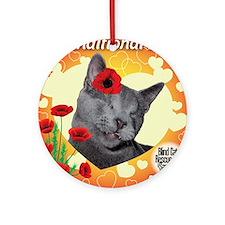 Poppy Unconditional Love Ornament (Round)