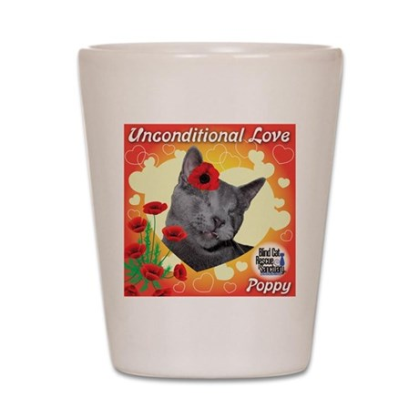 Poppy Unconditional Love Shot Glass