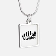 Evolution Silver Square Necklace