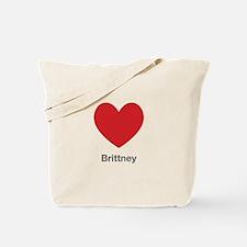 Brittney Big Heart Tote Bag