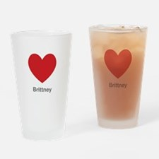 Brittney Big Heart Drinking Glass