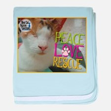 Peace Love Rescue baby blanket