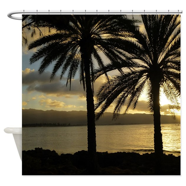 sunset north shore oahu shower curtain by picsofnature