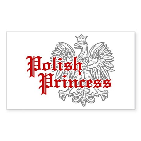 Polish Princess Rectangle Sticker