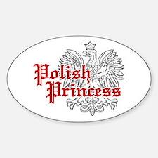 Polish Princess Oval Stickers