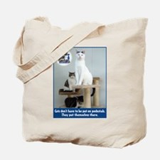 Cats on Pedestals Tote Bag
