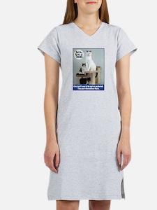 Cats on Pedestals Women's Nightshirt