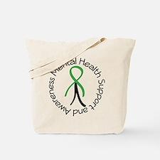 Mental Health Stick Figure Tote Bag