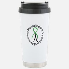 Mental Health Stick Figure Stainless Steel Travel