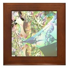 Wings of Angels - Amethyst Crystals Framed Tile