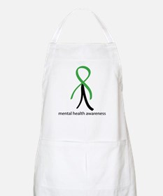 Mental Health Green Stick Man Apron