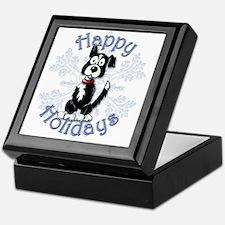 Buzz's Border Collie Snowflake Keepsake Box