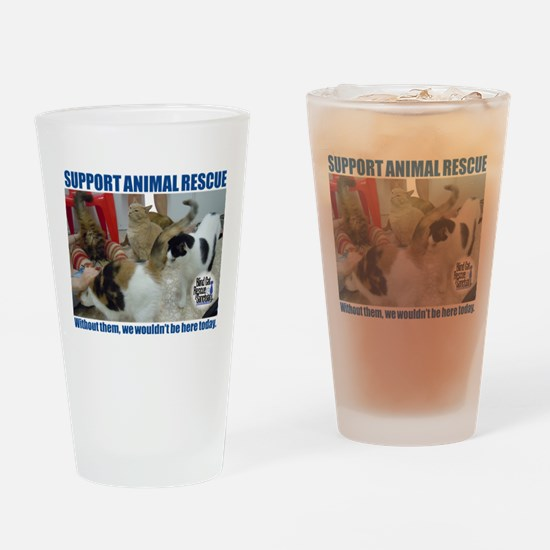 Support Animal Rescue Drinking Glass