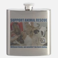 Support Animal Rescue Flask