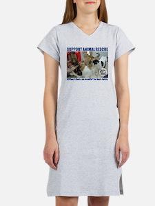 Support Animal Rescue Women's Nightshirt