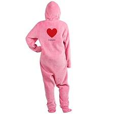 Celeste Big Heart Footed Pajamas