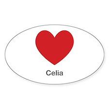 Celia Big Heart Bumper Stickers