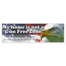 Gun Free Zone Bumper Car Sticker